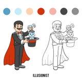彩图,魔术师 向量例证