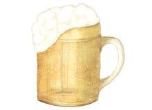 水彩图画,慕尼黑啤酒节标志,被隔绝 库存照片