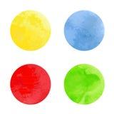 水彩圈子。 免版税图库摄影