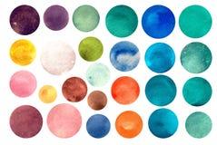 水彩圈子纹理 库存图片