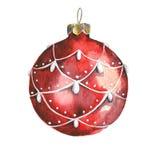 水彩圣诞节球 向量例证