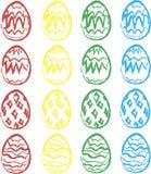 水彩复活节彩蛋 库存照片