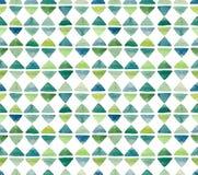 水彩小的绿色三角无缝的重复样式 库存图片