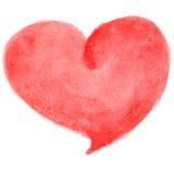 水彩心脏贺卡模板,海报,包装纸 礼物和礼物,心脏,浪漫元素 免版税库存图片
