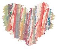 水彩心脏从飞溅 免版税图库摄影
