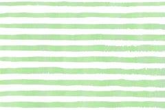 水彩手拉的条纹样式 库存照片