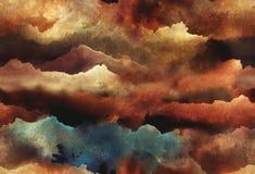 水彩抽象无缝的样式 库存照片