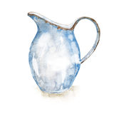 水彩搪瓷水罐 皇族释放例证