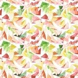 水彩新五颜六色的三角无缝的抽象样式 免版税库存图片