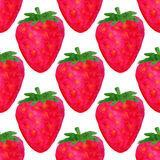水彩无缝的样式 草莓背景 水彩样式设计 传染媒介夏天果子例证 库存图片