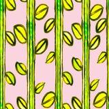 水彩无缝的花卉马赛克样式 免版税库存照片