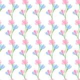 水彩无缝的花纹花样 向量例证