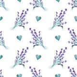 水彩样式用淡紫色 手绘画 织品的无缝的样式、纸和其他打印和网项目 库存照片