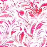 水彩桃红色花卉无缝 向量 库存照片