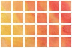 水彩桔子正方形 图库摄影