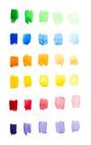 水彩梯度调色板 免版税库存照片