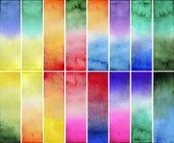 水彩梯度长方形 免版税库存图片