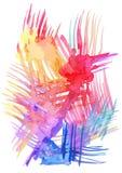 水彩棕榈叶例证 库存图片