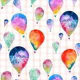 水彩气球 免版税库存图片
