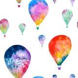 水彩气球 免版税图库摄影