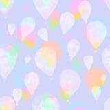 水彩气球 免版税库存照片