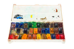 水彩油漆箱子 图库摄影