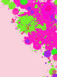 水彩油漆飞溅框架 库存图片