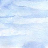 水彩浅兰的冬天雪天空纹理背景 免版税库存图片