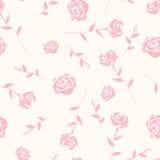 水彩玫瑰无缝的背景  库存照片