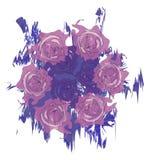 水彩玫瑰框架 图库摄影