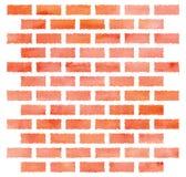 水彩砖墙 免版税库存照片