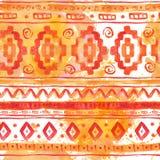 水彩种族非洲无缝的背景 皇族释放例证