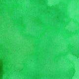 水彩纹理深绿色鲜绿色薄荷的颜色 水彩抽象背景 库存图片