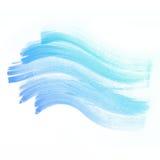 水彩背景。五颜六色的蓝色抽象水彩 免版税库存照片