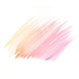 水彩背景。五颜六色的黄色桃红色水彩 免版税库存图片