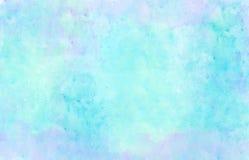 水彩背景蓝色紫色绿色 库存例证