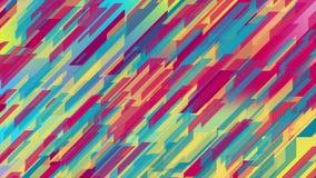 彩色几何技术摘要运动动画背景 向量例证
