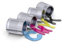彩色印刷品概念- 3D 免版税库存图片