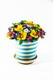 彩色塑泥五颜六色的花 库存图片