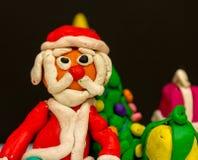 彩色塑泥圣诞老人项目祝愿大家爆发! 免版税库存图片