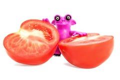 彩色塑泥妖怪用蕃茄 免版税库存图片
