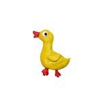 彩色塑泥小在白色隔绝的鸭子雕塑 免版税图库摄影
