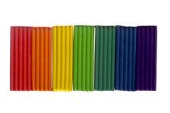 彩色塑泥彩虹 库存照片