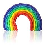 彩色塑泥彩虹 免版税图库摄影