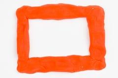 彩色塑泥框架 免版税图库摄影