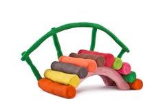 彩色塑泥桥梁 免版税库存照片