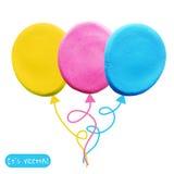彩色塑泥气球象  免版税库存照片