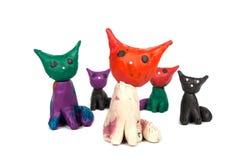 彩色塑泥玩具 库存图片