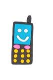 彩色塑泥电话 免版税库存照片