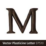 彩色塑泥的传染媒介例证在英语字母表上写字 图库摄影